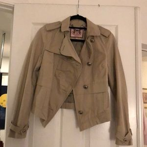 Khaki Juicy Couture cropped trench